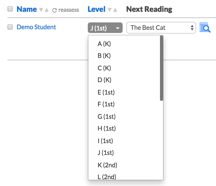 How do I set students' levels? – Literably
